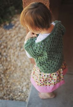 crochet granny square top, easily made in any size