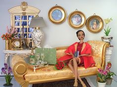 Image detail for -doll dioramas featuring barbie silkstone and fashion royalty dolls ...