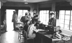 Control tower personnel at the 381st Bomb Group in Ridgewell