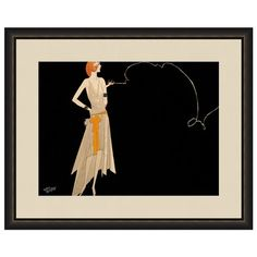 Wall art with a retro fashionista motif.   Product: Wall artConstruction Material: Wood, glass and acid free archival ...