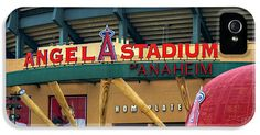 Baseballs Iphone Cases - Angel Stadium iPhone Case by Ricky Barnard