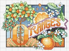 crossstitch, orang pattern, kitchen, cross stitch patterns, cross stitches
