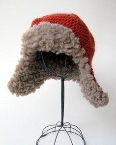 Earflap Hat Knitting Pattern Bulky Yarn : Knit & Crochet Thrums on Pinterest Crochet Mittens ...