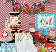 Sweet Treats Table at a Winter Party