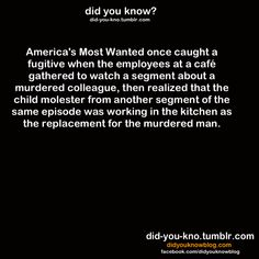 """""""America's Most Wanted"""" (Source: http://www.deseretnews.com/m/article/281529 )"""