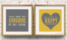 Instant Download. You are my sunshine, My only sunshine. You make me happy when skies are gray. To fit IKEA Ribba frames