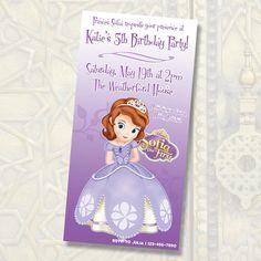 Disney Princess Sofia Birthday Invitations / by anthonypingicer,