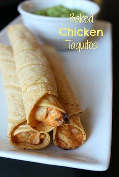 Baked Chicken Taquitos   MOMMY ON DEMAND