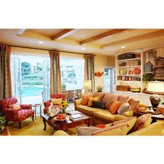 Colorful Living Room from Linda Applewhite & Associates
