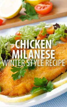 Keep it simple with a classic Chicken Milanese Recipe, which Bobby Flay dressed for winter in this recipe using kale as a seasonal vegetable topping. http://www.recapo.com/rachael-ray-show/rachael-ray-recipes/rachael-ray-bobby-flay-basic-chicken-milanese-recipe-winter-kale/