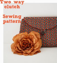 Two Way Clutch Sewing Pattern purs, clutch sewing pattern, bag, clutches, sew pattern, crochet patterns, sewing accessories, tote, sewing patterns