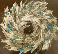 Weathered Peacock Wreath $29