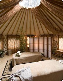 Yurt with fabric