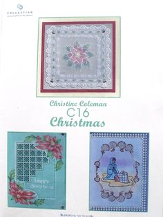 PATTERN PACK C16 - CHRISTMAS  Pattern pack C16 Christmas. Three lovely designs for Christmas.  Full, easy to follow, instructions and patterns included.