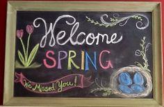 Spring chalkboard