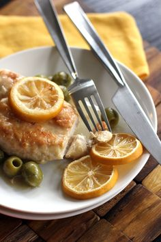Chicken with Roasted Lemons and Green Olives