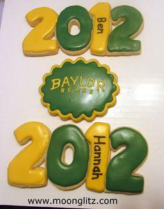 Graduation cookies—adorable! Sic 'em Baylor Bears!