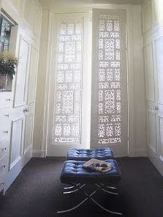 Fretwork door