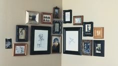 How to cluster photo frames to a corner
