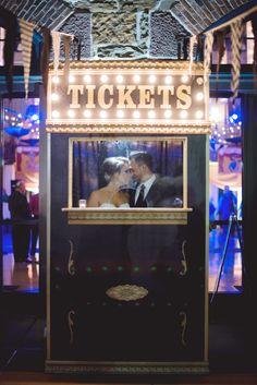 cute circus wedding theme, photo by Maria Mack Photography http://ruffledblog.com/pennsylvania-circus-inspired-wedding #weddingportrait #weddingideas