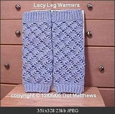 Lacy Leg Warmers (free pattern)