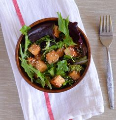 Garlic and Sesame Tofu Salad from Appetite for China