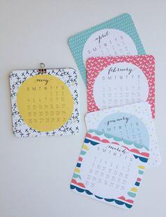2014 Calendar Wall or Desktop Calendar 12 Month by PrintSmitten