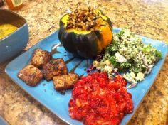 Thanksgiving dinner recipes for Plant Strong Diets!! stuf acorn, thanksgiv recip, fun recip, thanksgiving recipes, fork over knives recipes, acorn squashdelish