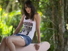 Transgender model Felipa Tavares poses for photos during a photo session in Rio de Janeiro, Brazil.