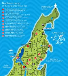 Northern Michigan Wine Loop Map