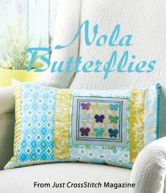 Nola Butterflies from the May/Jun 2014 issue of Just CrossStitch Magazine. Order a digital copy here: http://www.anniescatalog.com/detail.html?code=AM53352