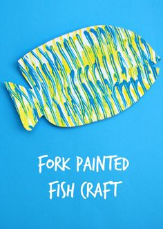 Fork Painted Fish Craft for children.  #animalcraft #preschool