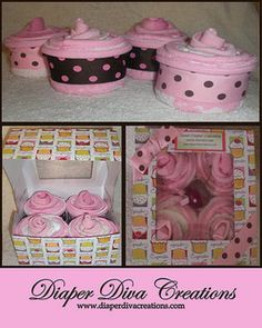diaper cupcake - Google Search