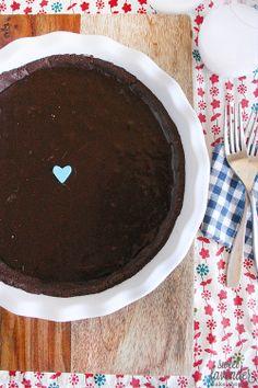 gluten free, dairy free, sugar free chocolate peanut butter pie...