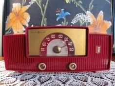 Vintage Radio GE iPod Ready Model 427 1950's by RetroRoxyRhonda, $165.00