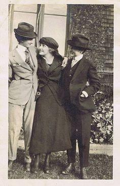 Vintage photo of ladies in suits.