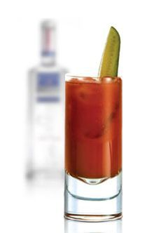 ... gin instead of vodka—and a dill pickle spear instead of a celery