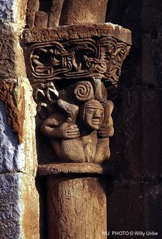 Romanesque vagina - Vagina románica. Cantabria. Spain