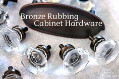 How To:  Rub 'n Buff Bronze Hardware