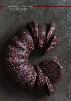 bundt cakes, chocolates, baker royal, food, chocol peppermint, eat, peppermint bundt, christma, dessert