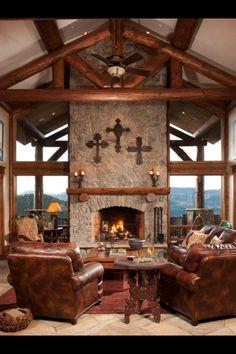 Precision Craft Log and Timber Homes  Via Log Home Living