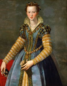 Portrait of Maria de'Medici or Eleanora di Garzia di Toledo, ca. 1555, artist Alessandro Allori (Italian 1535-1557), Kunsthistorisches Museum http://www.khm.at/en/