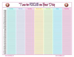 {FREE} Daily Schedule page from HomeschoolinMama.com