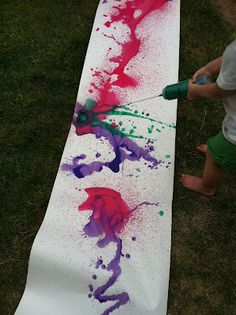 outdoor squirt painting