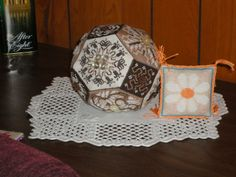Quaker Button Ball from Amaryllis Artworks stitched by MaryP