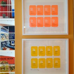 Our business cards sample printing framed - love the bright happy colors