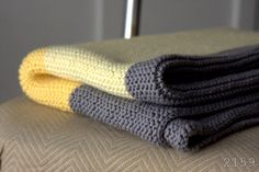 Knitted baby blanket - pattern from PurlBee (super easy baby blanket)
