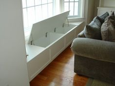 Window seat storage.