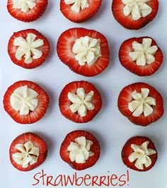 Cream cheese strawberries