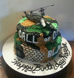 Our Call of Duty Black Ops Cake